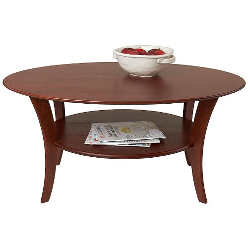 Manchester Wood Oval Cherry Coffee Table - Heritage Cherry American Heritage Coffee Table