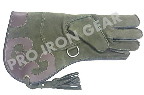 (PRO IRON GEAR Falconry Nubuck Leather Glove Size L 13 INCH)