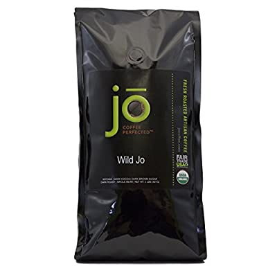 WILD JO: 2 lb, Dark French Roast Organic Whole Bean Coffee, Bold Strong Wicked Good Coffee! New Name, Great Brewed or Espresso, USDA Certified Fair Trade Organic, 100% Arabica Coffee, NON-GMO