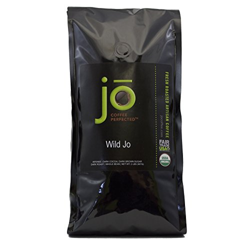 Deserted JO: 2 lb, Dark French Roast Organic Whole Bean Coffee, Bold Strong Rich Wicked Good Coffee! Vast Brewed or Espresso, USDA Certified Fair Trade Organic, 100% Arabica Coffee, NON-GMO