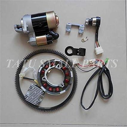 Amazon.com: Kit de arranque eléctrico EVANST de 5 kw CW Dire ...