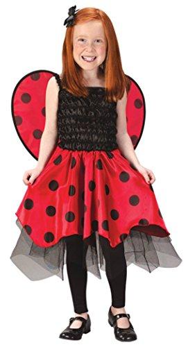 Girls Ladybug Kids Child Fancy Dress Party Halloween Costume, L (8-10) (Lady Clown Costume)