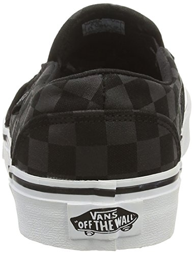 Checker Washed Sneakers Asher W Noir Black Black Vans Basses Femme Blue Tint 8nqxx