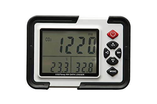 AMTAST CO2 Carbon Dioxide Data Logger, Temperature and Re...