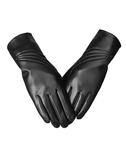 GlovesTouchscreen Texting DrivingWinter Warm PU Leather Gloves