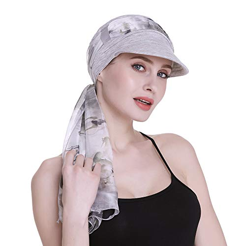 (FocusCare Cotton Newsboy Cap for Women Patients with Breast Cancer Bald Scalp Headwear)