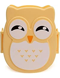 PickUp 900ml Plastic Bento Lunch Box Square Cartoon Owl Microwave Oven Food Container compare