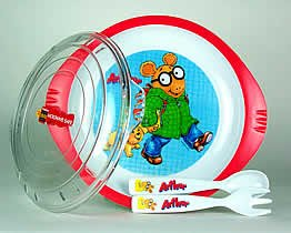 Plate Arthur Baby - Arthur Micriwavable Plate Set