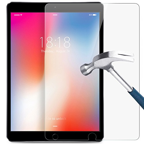 iPad Pro 10.5 inches Screen Protector, DTTO [Bubble Free] [Anti-Scratch] Double Defense Premium Tempered-Glass Tablet Screen Protector with Retina Display for iPad Pro 10.5 inches