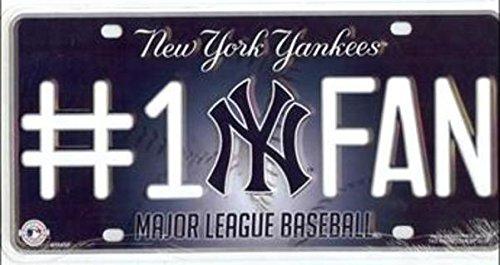 MLB New York Yankees #1 Fan Metal Tag