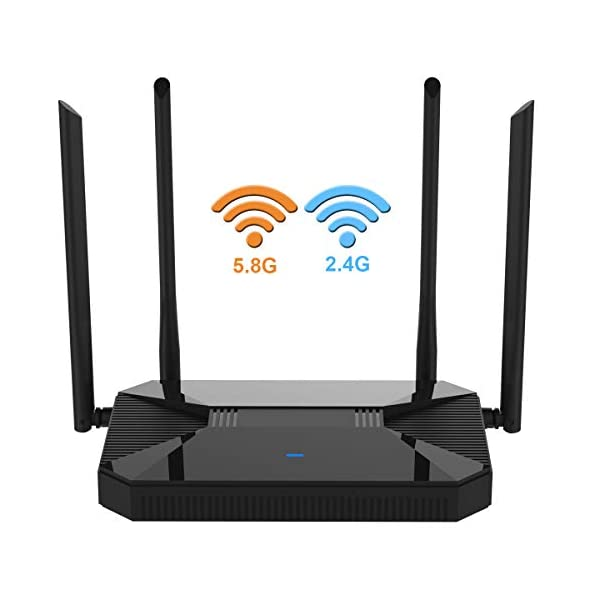 【Newest 2019】 Wireless WiFi Router High Speed Gaming Router Up to AC1200Mbps...