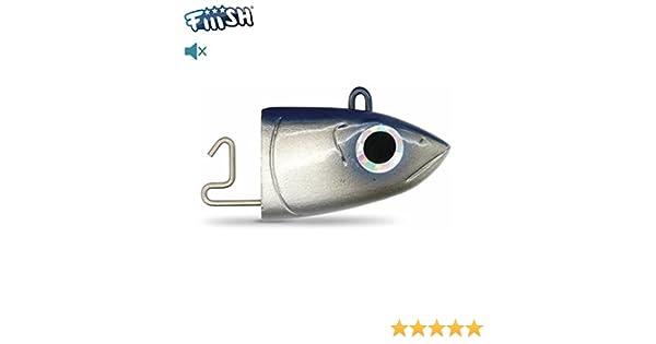 FIIISH - Têtes Black Minnow Bleu Offshore (x2) - 10g: Amazon.es ...