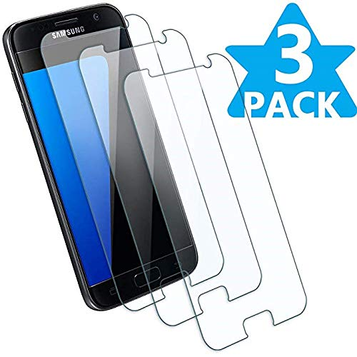 [3 - Pack] Compatible Samsung Galaxy S7 Tempered Glass Screen Protector,9H Hardness,Bubble Free,Ultra-Clear,Scratch Proof,Case Friendly Screen Protector Compatible Galaxy S7