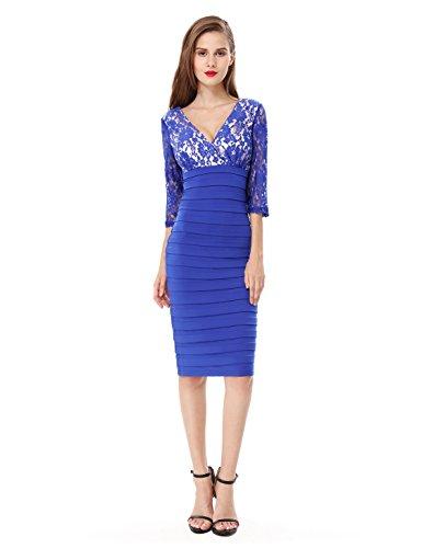 Ever-Pretty HE03783PP08 - Vestido para mujer Sapphire Blue