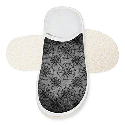 67655221dbc1c Dark Spider Web Gothic Unisex Adult Cotton House Slippers Keep Warm House  Crocs Couples 11 B(M) US