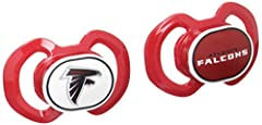 """Soothe your little fan with officially licensed, Made in the USA pacifiers. These orthodontic pacifiers feature a silicone nipple and plastic shield. The team logo is adorned on the """"button"""" with team colors decorating the shield. All items h..."""