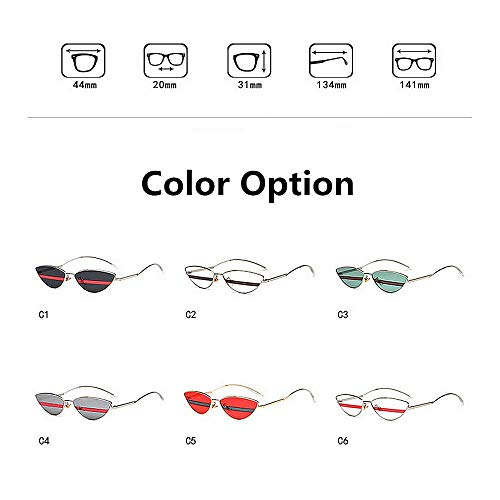 Ultra Unisexe la colorée de d'été la légères à C1 Petite Plage C5 Taille pour Protection Lunettes Soleil UV400 Conduite Wenjack Forme Femmes de Les Vacances Couleur de lentille de de 6q0g4Ew