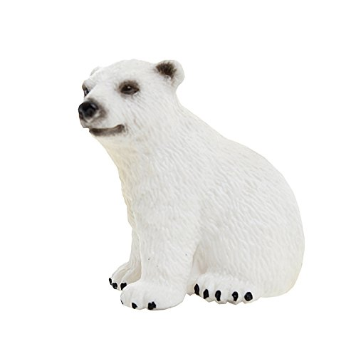 Schleich Polar Bear Cub Toy (Polar Bear Figure)
