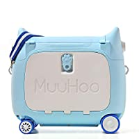 ANIMOR Kids Travel Partner Ride-On Suitcase and Carry-On Luggage, BedBox,Classic Rolling Luggage