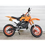 Kids Dirt Bike 49cc engine with Cell-Start in Orange Colour