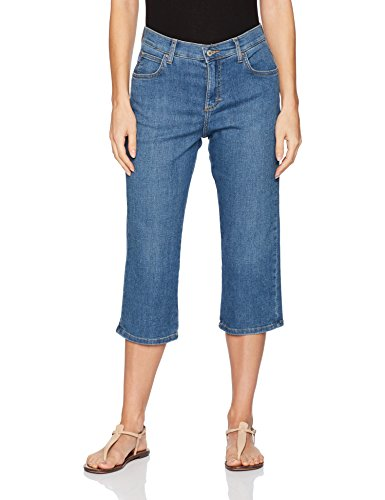 LEE Women's Relaxed Fit Capri Pant, Soar, 14 (Lee Jeans Capri Jeans)