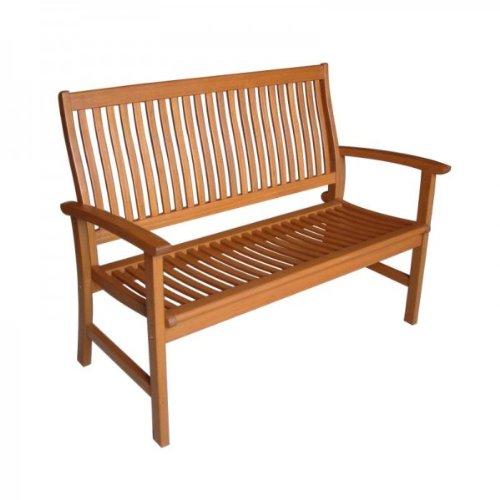 Garten Bank aus hochwertigem Bangkirai Hartholz, 2-Sitzer ergonomisch