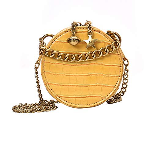 DZTZ Fashion Women Alligator Leather Crossbody Bags Messenger Bags Handle Bag (Yellow)