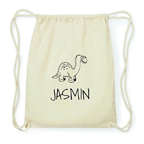 JOllipets JASMIN Hipster Turnbeutel Tasche Rucksack aus Baumwolle Design: Dinosaurier Dino UDnGuK7JjA
