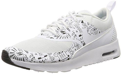 Nike Air Max Signore Wmn Thea Scarpe Da Ginnastica Di Stampa, Bianco Bianco (bianco / Bianco-nero)