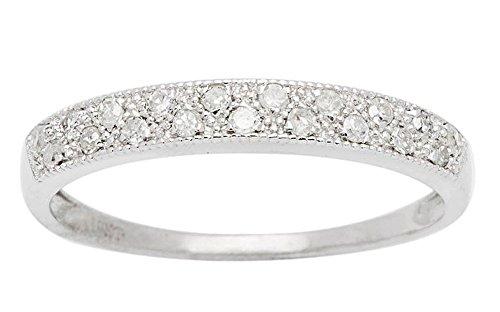 10k White Gold Diamond Anniversary Wedding Band (1/5 cttw, I J Color, I2 I3 Clarity)