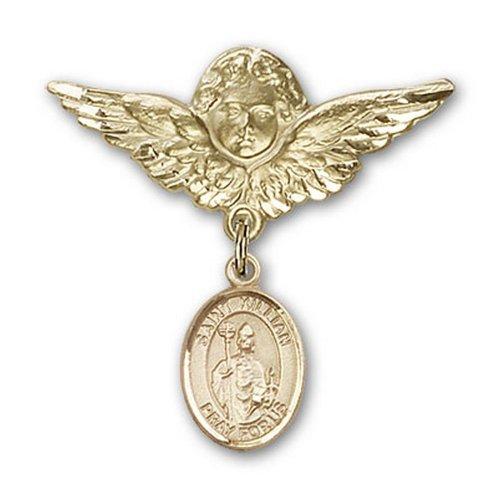Icecarats Or Bijoux De Créateurs Rempli R. Broches Badge Kilian Charme D'Ange 1 1/8 X 1 1/8