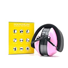 Adults Noise Cancelling Ear Muffs Safety Hearing Protection Ear Defenders for Women Men Sleeping Drumming Studying, Pink