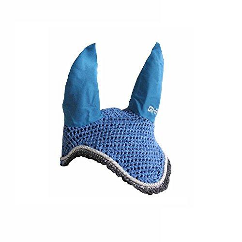 Knallige Fliegenohren, Fliegenhaube für Schutz vor Fliegen Shetty bis Full, Groesse:Pony;Farbe:himmelblau