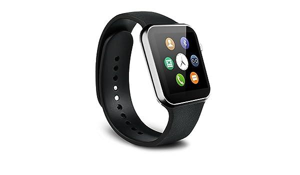 Amazon.com: Reloj Inteligente 2018 Deportivo Con Camara Para Android iPhone Digital DE Mujer Y Hombre Unisex ACCESORIOS Para CELULARES RE0106 (Black): ...