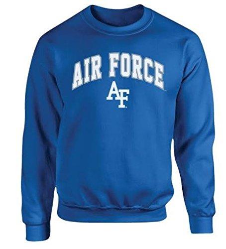 Elite Fan Shop Air Force Falcons Crewneck Sweatshirt Blue - XL