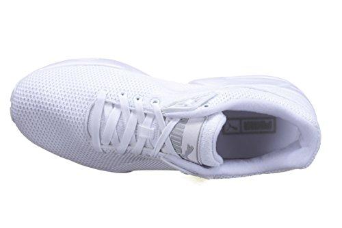 Puma R698 Mesh Baskets Mode V2 Knit Homme Blanc 1x6xqw7PTC