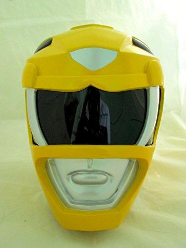 [Yellow Power Ranger Helmet Cosplay Life Size] (Yellow Power Ranger Costumes Child)
