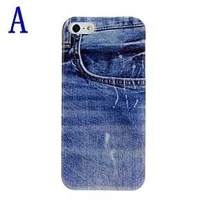 ZXM-Jeans Patrón de plástico duro caso para iPhone 5/5S , B
