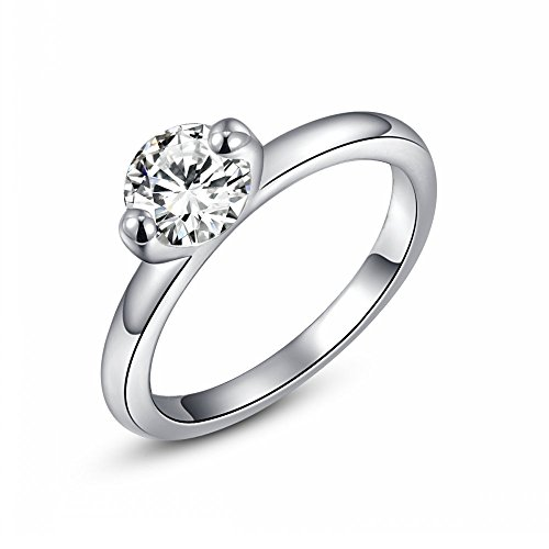 Roxi Diamond Wedding Engagement Annivesary Bridal Ring for Womens With 18K White Gold Plated - 18k White Gold Bow
