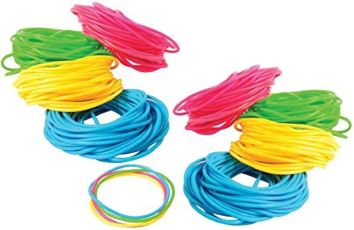Novelty Treasures 144 Neon Jelly Bracelets Birthday Goody Bag Party Favor ()