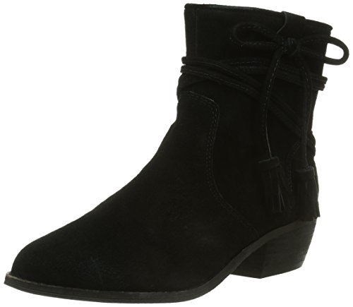 Minnetonka Womens Boot Mesa In Camoscio Nero
