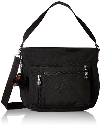 Kipling Elody Black Hobo Convertible Handbag Black