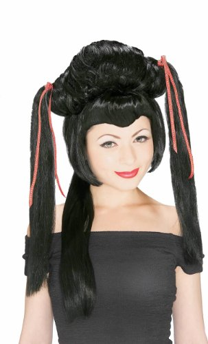 Rubie's Japanese Girl Wig, Black, One -