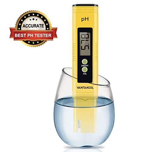 Digital PH Meter, VANTAKOOL PH Meter 0.01 PH High Accuracy Water Quality Tester with 0-14 PH Measurement Range for Household Drinking, Pool and Aquarium Water PH Tester Design with ATC ()