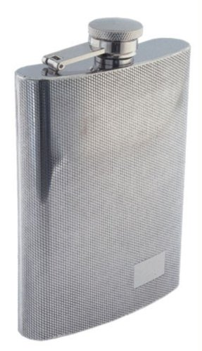 Colonel Conk Model 509 Rimless Flask with Diamond Pattern and Mirror Finish, 9 oz ()