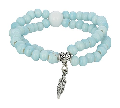 Young & Forever Girl's Valentine Allure Collection Diwali Pastel Blue Charm Bracelet by Young & Forever