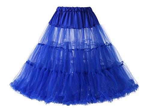 Women's Dressystar Royalblue Crinoline Petticoat Skirt 1950s Underskirts Tutu vqr67vwx