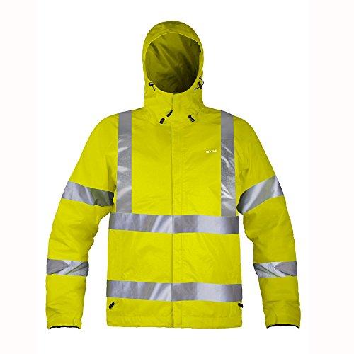 [Grunden's Men's Gage Weather Watch Ansi Certified Jacket, Hi Vis Yellow, 3X-Large] (Snow Motorcycle Jackets)
