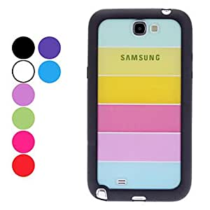 Transparent Colorful Pattern Hard Case,Screen Protector for Samsung Galaxy Note 2 N7100 (Assorted Colors) --- COLOR:Blue