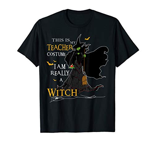 This Is My Teacher Costume I Am Really A Witch T-Shirt